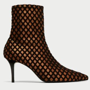 ZARA mesh ankle boot